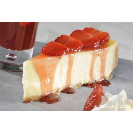 Cheesecake et compotée de fraises
