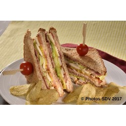 Club sandwich poulet bacon