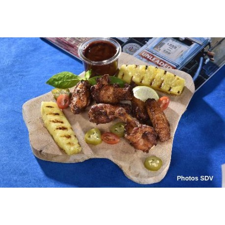 Chicken wings & ananas grillé