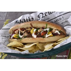 Hot dog effiloché boeuf