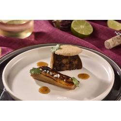 Aubergines grillées et tuile aux amandes - 4 pers