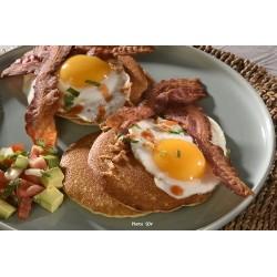 Pancakes bacon & eggs