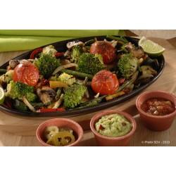 Fajitas de légumes cajun