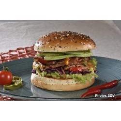 Burger gourmet poulet effiloché mex