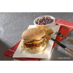 Black Angus burger bun