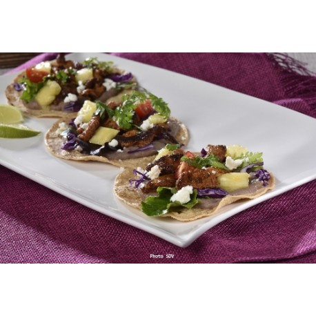 Tacos refried beans Al pastor