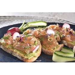 Tartine de gravlax de saumon
