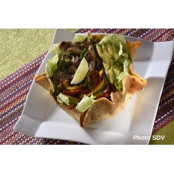 Taco salad fajitas poulet