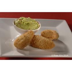 Jalapenos cheddar et guacamole