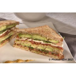 Club sandwich saumon avocat