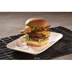 Cheddar bacon potato bun burger