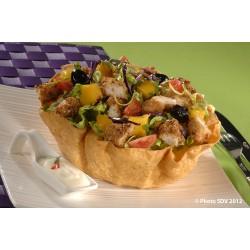 Taco salad poulet et mangue