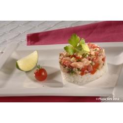 Tartare saumon façon sushi