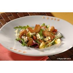 Salade crevettes et pop corn