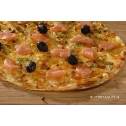 Torti-pizza au saumon