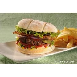 Burger baps premium bacon