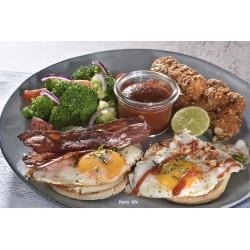 Assiette brunch muffins et aiguillettes poulet