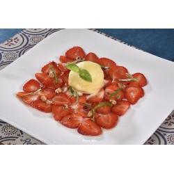Carpaccio de fraises érable et vinaigre - 4 pers