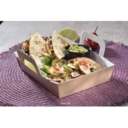 Box Mex tacos et quesadilla