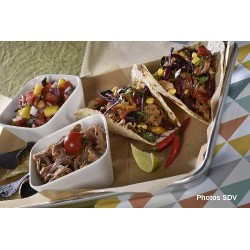 Tacos slow cooked chicken mex