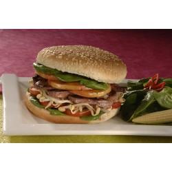 Burger canard à l'asiatique