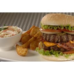 Double burger de boeuf