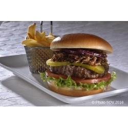 Gourmet burger Angus effiloché poulet bbq