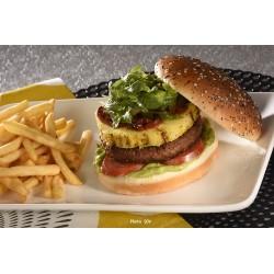 Gourmet pineapple Beyond Meat burger