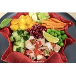 Taco salad betterave poulet