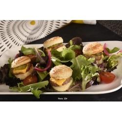 Mini burgers en salade