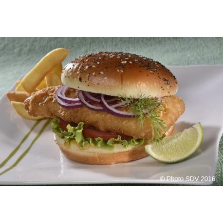 Burger gourmet multigrains fish and chips