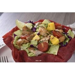 Taco bowl betterave avocat poulet