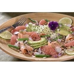 Salade saumon pamplemousse avocat