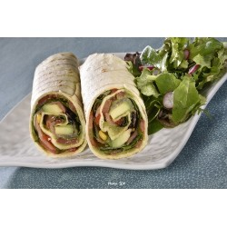 Wraps tortilla grill saumon