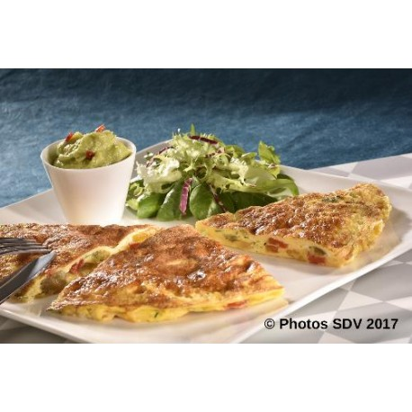 Omelette oldbay oignons poivrons