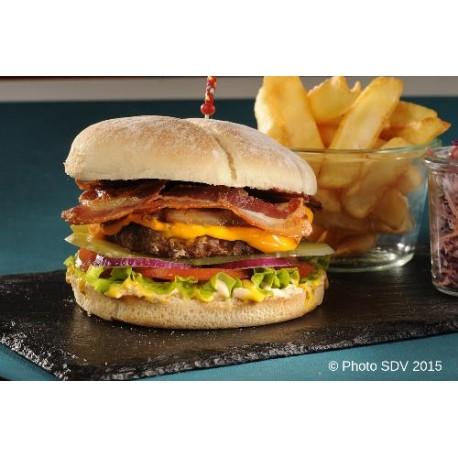 Baps premium cheese & bacon
