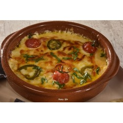 Queso fundido tortillas chips