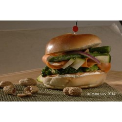 Veggie Peanut Bagel