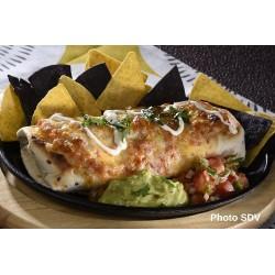 Burrito gratiné