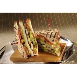 Club sandwich poulet à la texane