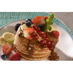 Pancakes fruits rouges dulce de leche