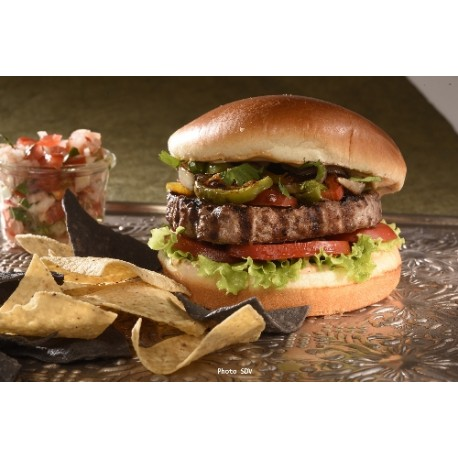 Burger doré steak and pepper