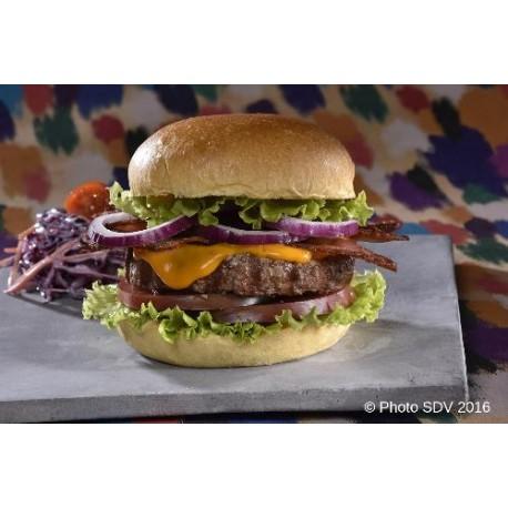 Burger brioché beef cheddar bacon
