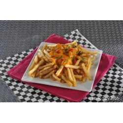 French fries & cheddar assiette