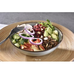 Bowl de lentilles au vinaigre et légumes
