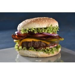 Burger sesame bacon &cheese