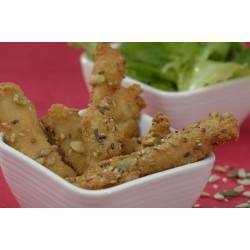 Aiguillettes de poulet sauce B.B.Q.