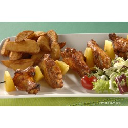 Brochette de wings bbq et ananas