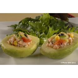 Salade d'avocat et saumon