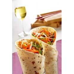 Wrap de légumes croquants - tortilla multicéréales